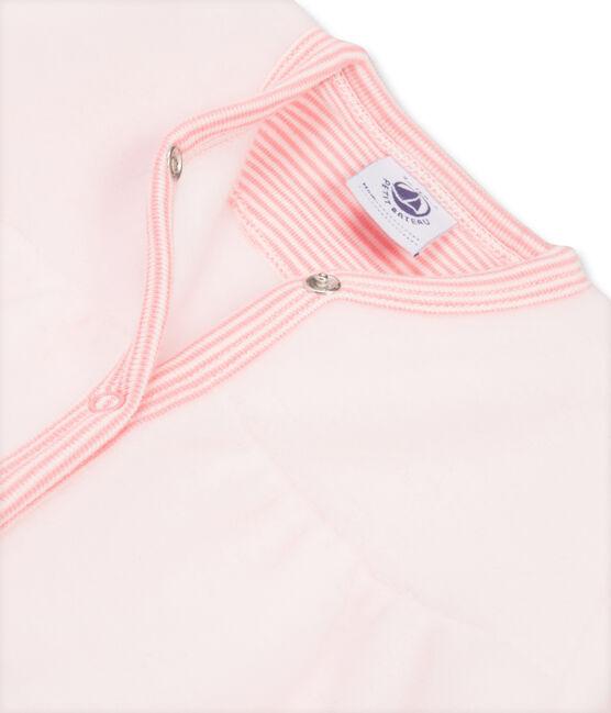 Combichaud bébé fille en polaire rose Vienne