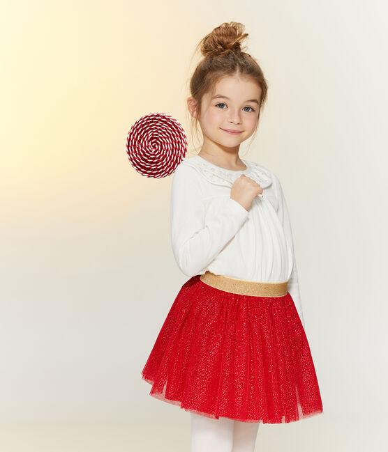 Blouse enfant fille blanc Marshmallow