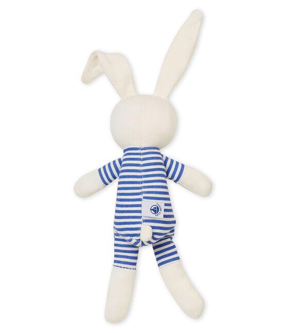 Doudou lapin hochet bleu Smoking / blanc Marshmallow