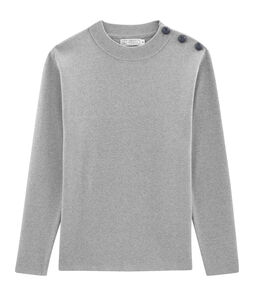 Pull marin homme uni gris Subway