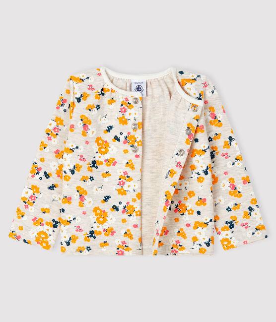 Cardigan en tubique bébé fille beige Montelimar / blanc Multico