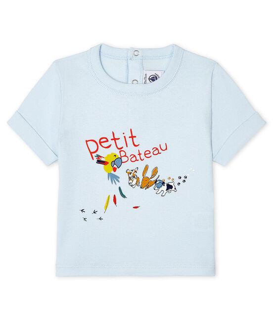 Tee-shirt manches courtes bébé garçon bleu Fraicheur