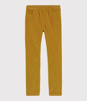 Pantalon velours enfant fille jaune Topaze