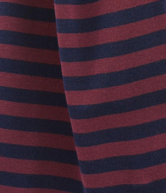 Echarpe rayée pour femme bleu Smoking / rouge Ogre