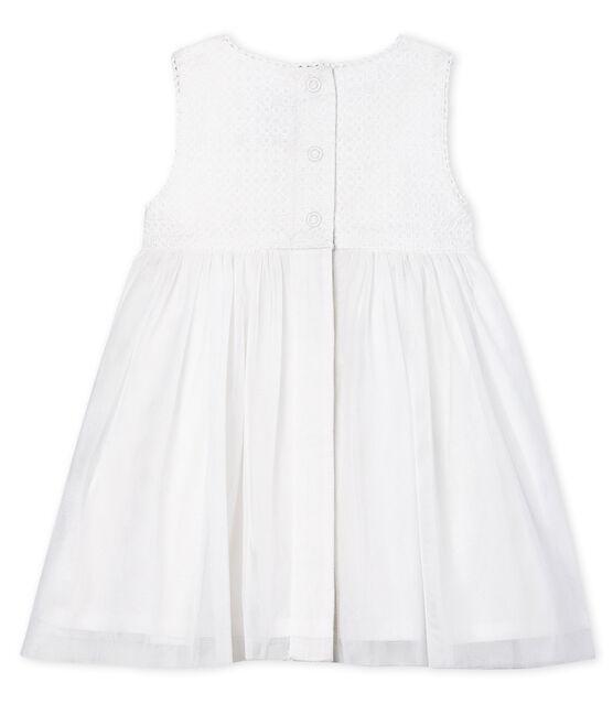 Robe de cérémonie bébé fille blanc Marshmallow / marron Cuivre