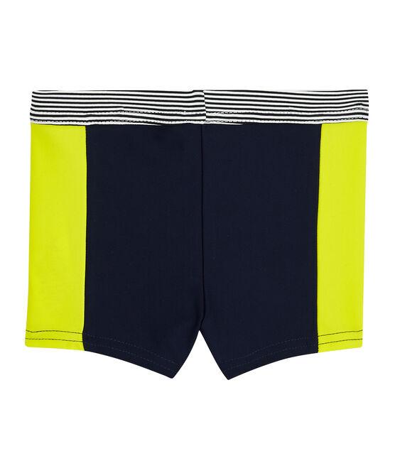 Short de bain écoresponsable bébé garçon bleu Smoking / jaune Jaune