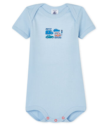 Body manches longues bébé garçon-fille bleu Jasmin