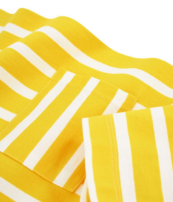 Marinière femme jaune Shine / blanc Marshmallow
