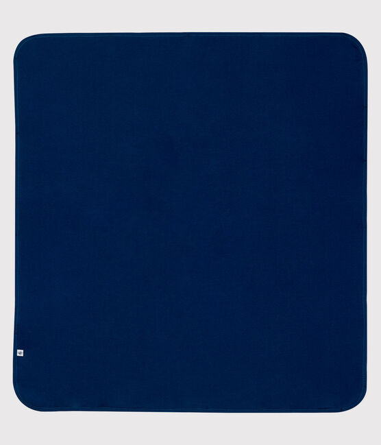 Couverture anti-ondes en jersey double face bleu Smoking / blanc Ecume