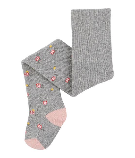 Collants bébé fille rose Charme / gris Subway