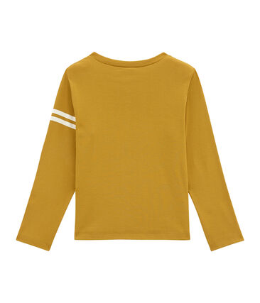 tee-shirt manches longues enfant garçon jaune Inca