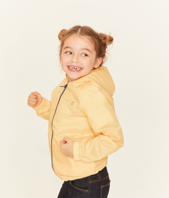 Coupe-vent enfant mixte jaune Honey / blanc Marshmallow