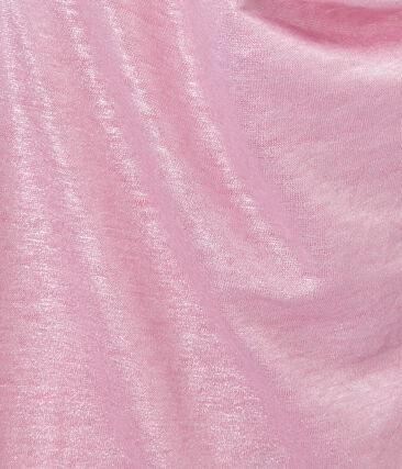 Top femme en lin irisé rose Babylone / gris Argent