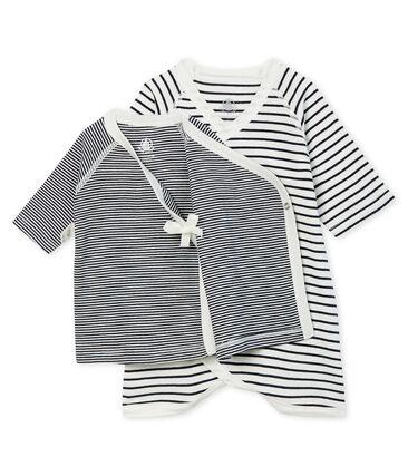 Lot body kimono et brassière bébé en côte lot .