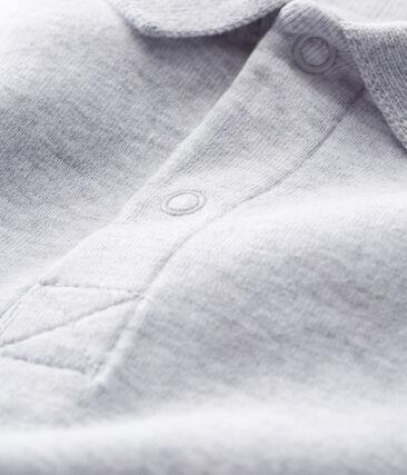 Body manches courtes col polo bébé garçon uni gris Poussiere Chine