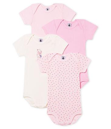 Lot de 4 bodies manches courtes bébé fille