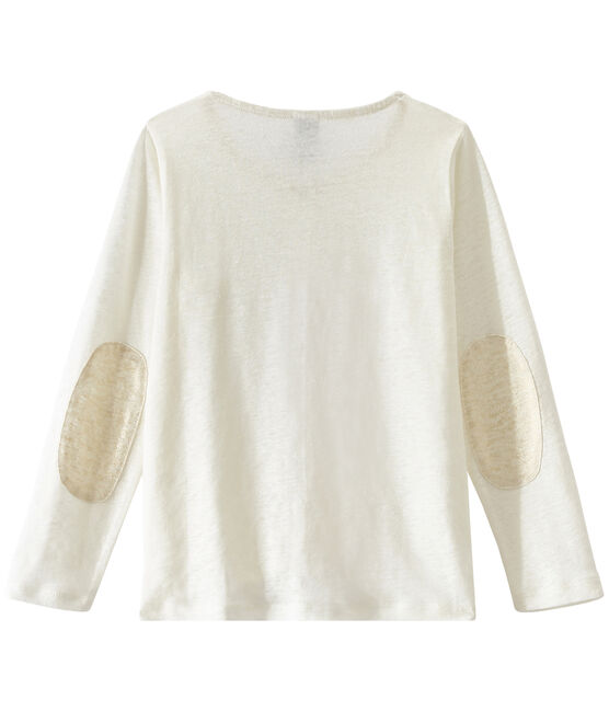 Cardigan enfant fille blanc Lait / jaune Or