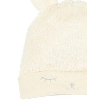 Bonnet bébé fille doublé polaire blanc Marshmallow