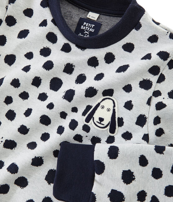 Sweat shirt Jean Jullien MARSHMALLOW/DOTTIES