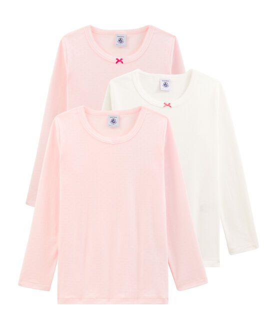 Lot surprise de 3 tee-shirts manches longues petite fille lot .