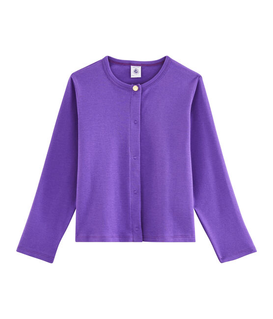 Cardigan enfant fille violet Real