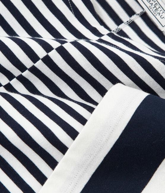 Tee-shirt graphique manches courtes femme bleu Smoking / blanc Marshmallow