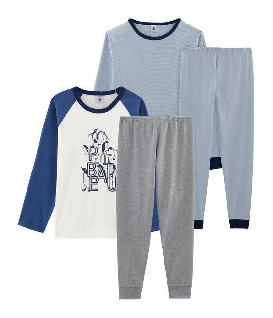 Duo de pyjamas petit garçon en côte lot .