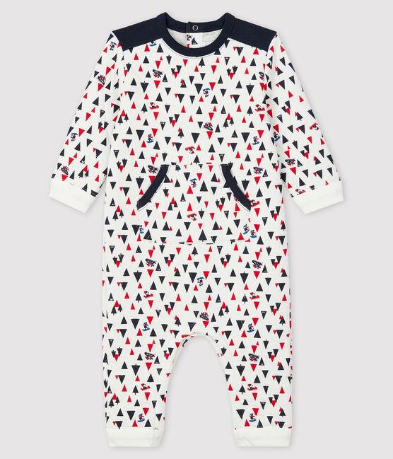 Combinaison longue bébé garçon blanc Marshmallow / blanc Multico
