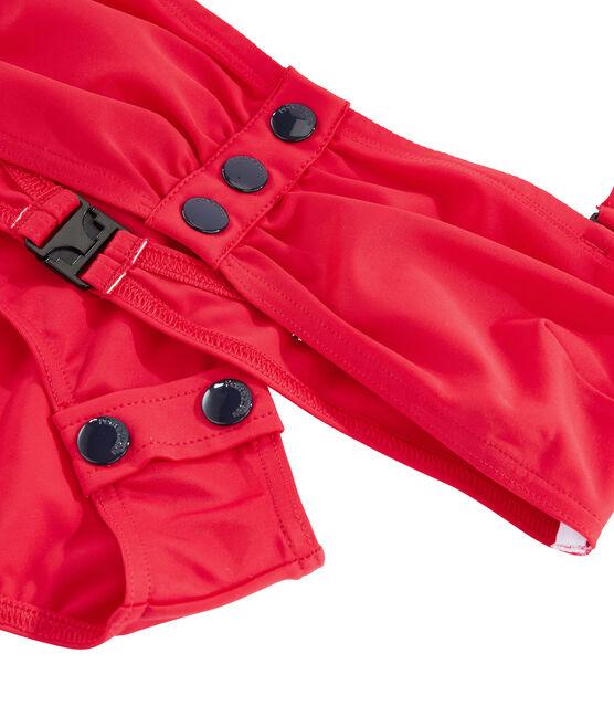 Maillot de bain 2 pièces écoresponsable rouge Peps