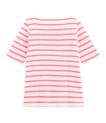 Tee-shirt enfant fille blanc Marshmallow / rose Cupcake