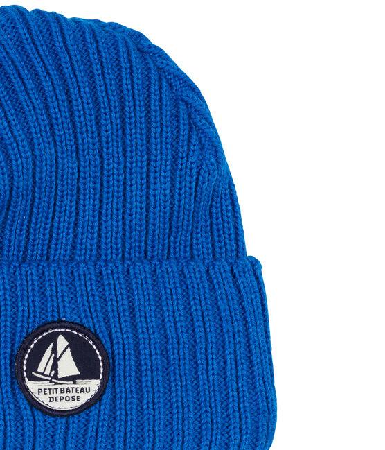 Bonnet enfant mixte bleu Wave