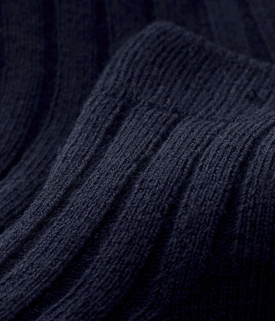 Chaussettes en côtes bébé mixtes bleu Smoking
