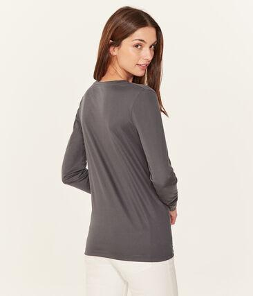 Tee-shirt manches longues femme en coton sea island