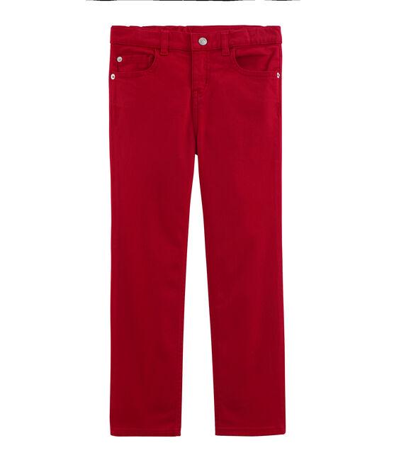 Pantalon enfant garcon rouge Terkuit