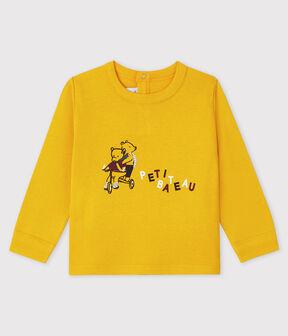 Tee-shirt bébé garçon jaune Boudor
