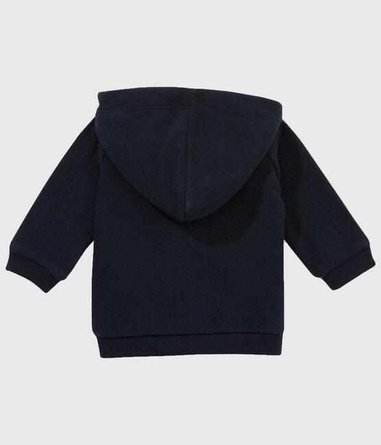 Sweatshirt en polaire bébé garçon bleu Abysse