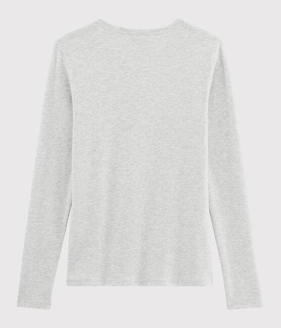 T-shirt col V iconique en coton Femme gris Beluga