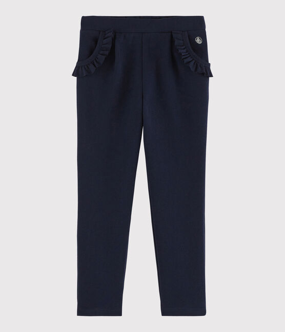 Pantalon de jogging en molleton enfant fille bleu Smoking