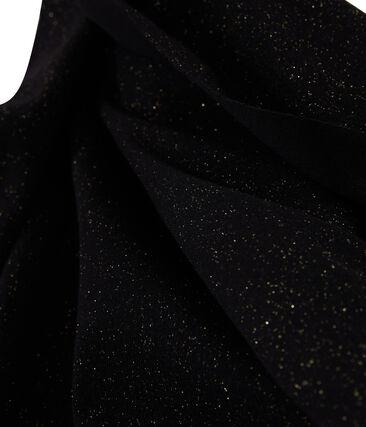 Echarpe brillante femme noir Noir / jaune Or