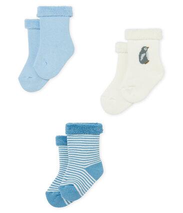 Lot de trois paires de chaussettes bébé en éponge