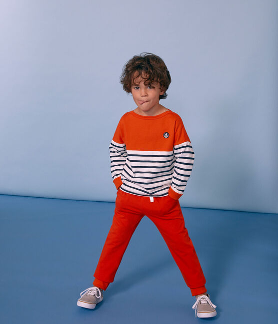 Pantalon enfant garçon orange Carotte