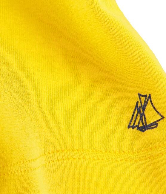 Bermuda maille enfant fille jaune Shine