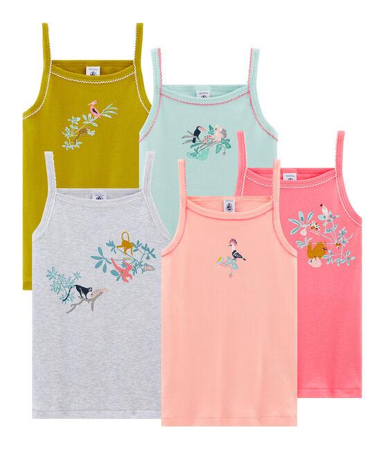 Lot de 5 chemises à bretelles petite fille lot .