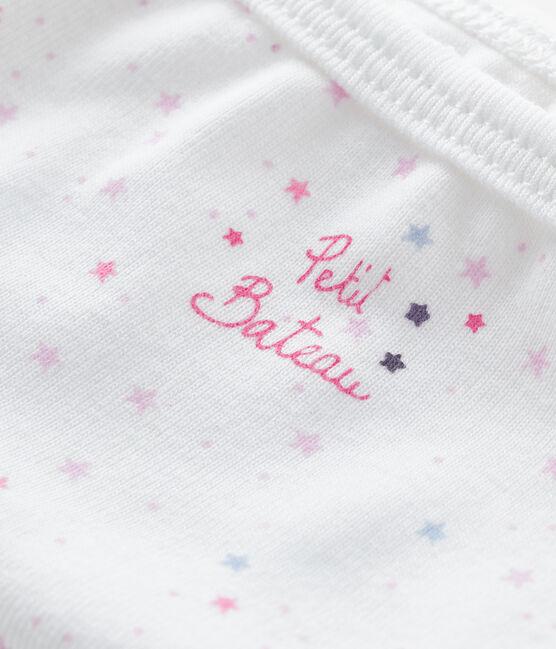Culotte petite fille blanc Ecume / rose Bonbec