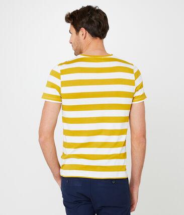 Tee-shirt manches courtes homme jaune Bamboo / blanc Marshmallow