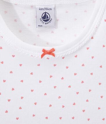 Chemise de nuit fille imprimée cœurs
