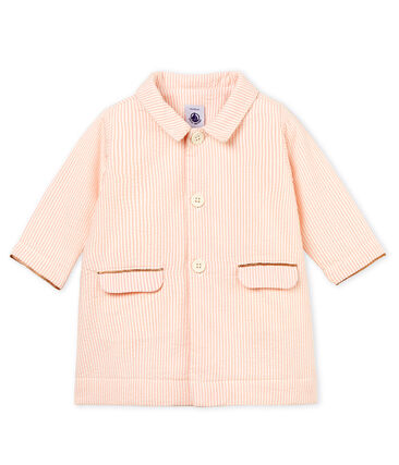 Manteau rayé bébé fille