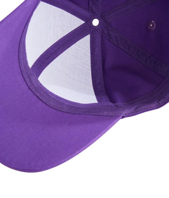 Casquette en twill enfant fille violet Real