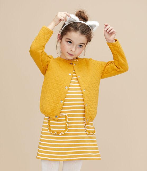 Cardigan en tubique enfant Fille jaune Boudor
