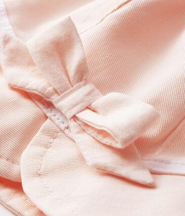 Capeline en twill bébé fille rose Fleur
